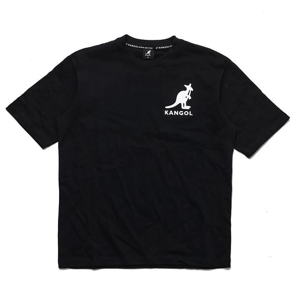KANGOL 短袖 短T 黑 胸口 大LOGO 袋鼠 棉 男 (布魯克林) 6021101420