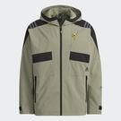 Adidas TH QCKDRAW JKT 男裝 外套 連帽 休閒 拉鍊口袋 可調式袖口 灰綠【運動世界】H40238