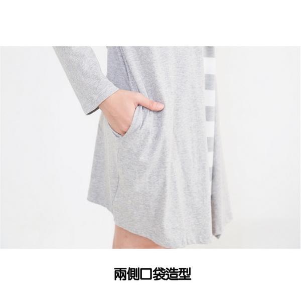 假兩件外套孕婦哺乳【側掀式】親子裝 兩色【CRC8548】孕味十足 孕婦裝