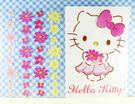 【震撼精品百貨】Hello Kitty 凱蒂貓~KITTY貼紙-雙面貼紙-花