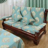 椅墊 實木紅木質坐墊四季加厚海綿帶靠背中式防滑墊子可定做 萬客居