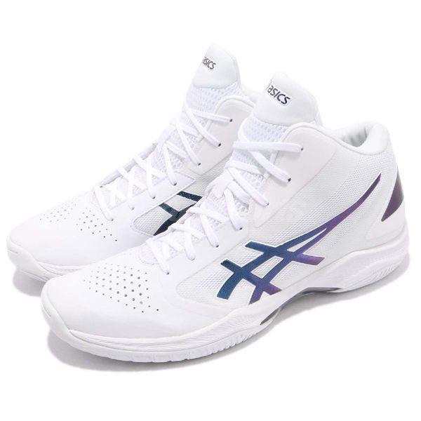 【六折特賣】Asics 籃球鞋 Gelhoop V 10 白 藍 高筒 舒適緩震 輕量透氣 男鞋 運動鞋【PUMP306】 TBF3390154