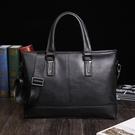 FINDSENSE品牌 韓國 新款  FIN韓國出品 包款 時尚 男士 手提包 商務 公文包 單肩 斜挎 復古 潮流