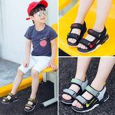 韓版夏季男中大童學生涼鞋