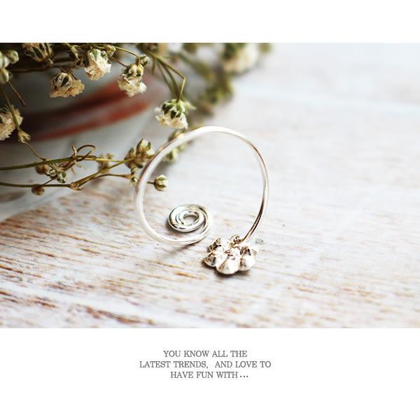925純銀 迴旋點鑽花朵 細線戒指 尾戒  關節戒_質物日誌Journal