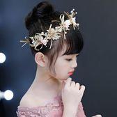女童公主裙配飾頭花飾品發箍兒童節日演出發飾花童婚紗頭飾頭箍女 卡米優品