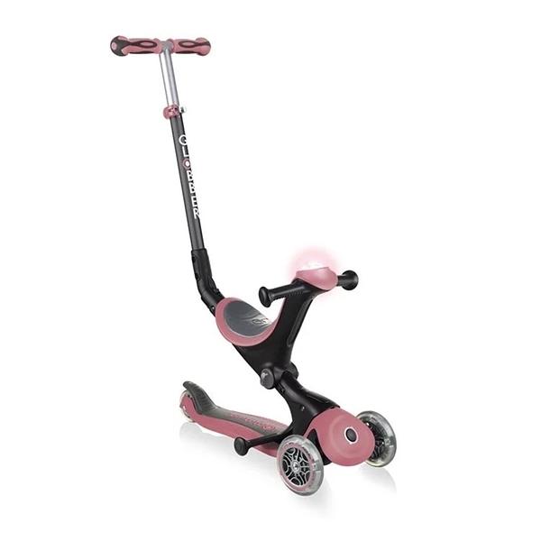 Globber 哥輪步 GO•UP 5合1豪華版滑板車(聲光版)-馬卡粉[衛立兒生活館]