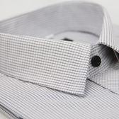 【金‧安德森】細黑格紋黑釦窄版短袖襯衫