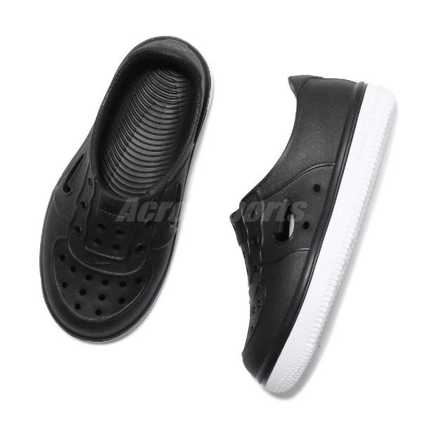 Nike 休閒鞋 Foam Force 1 TD 黑 白 Air Force 免綁鞋帶 氣孔設計 童鞋 小童鞋【ACS】 AQ2442-001