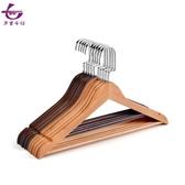 實木衣架子木質掛衣架防滑家用衣撐2色4款