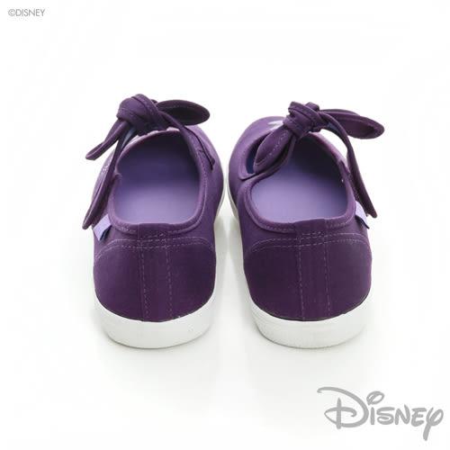 DISNEY 甜心風采 瑪麗貓蝴蝶結魔鬼氈娃娃鞋-紫(女)