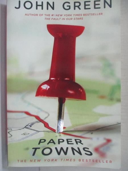 【書寶二手書T1/原文小說_C22】Paper Towns_Green, John