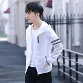 中大尺碼 薄外套夏季2018新款韓版潮流青少年修身超薄款帥氣透氣衣服 mc10227『男人範』