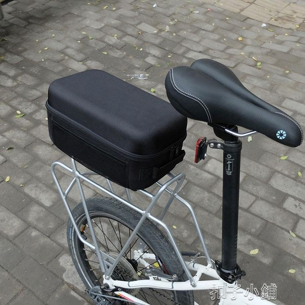 硬殼後駝包折疊自行車後貨架包山地車馱包單車防水尾包騎行裝備包 【扣子小鋪】