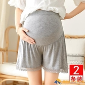 孕婦安全褲薄款防走光可外穿大碼打底褲莫代爾夏季寬松托腹短褲子【小橘子】