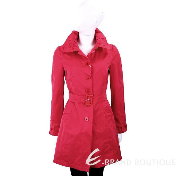 i BLUES 微皺設計布料紅色腰帶風衣 1310534-54