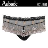 Aubade貝爾M蕾絲平口褲(宮廷黑)HC