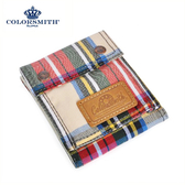 【COLORSMITH】LD・對折零錢短夾-經典紅格紋・WLLD2036-RH