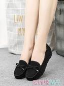 豆豆鞋老北京布鞋女鞋豆豆鞋平跟軟底蝴蝶結單鞋百搭黑色工作鞋女休閒鞋 春季上新