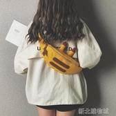 腰包可愛帆布小包包女新款潮酷女孩腰包潮ins時尚卡通單肩斜背包  【快速出貨】