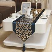 歐式簡約燙金現代桌旗餐桌布茶幾電視櫃桌布餐墊布藝床旗床尾巾桌巾    提拉米蘇