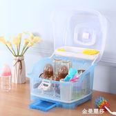 嬰兒奶瓶收納箱盒大號便攜寶寶輔食餐具儲存盒帶蓋防塵瀝水晾干架HM 金曼麗莎