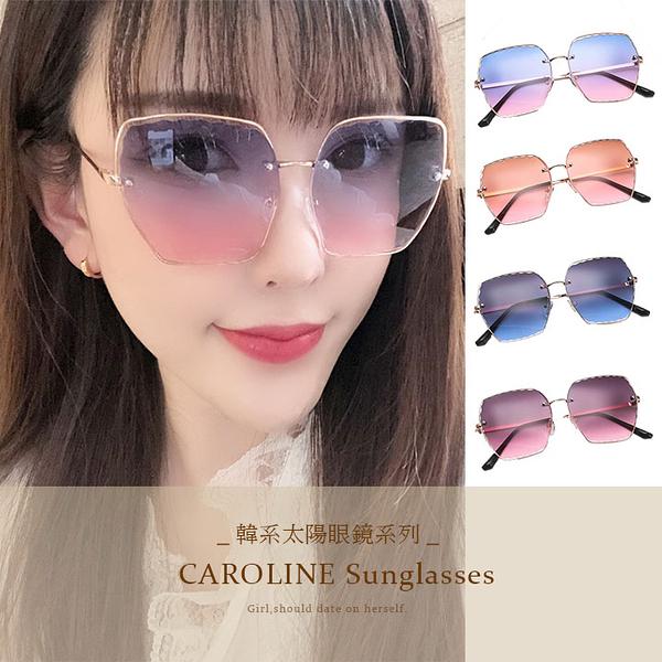 《Caroline》年度最新網紅款潮流百搭抗UV時尚太陽眼鏡 72252