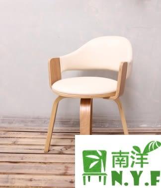【南洋風休閒傢俱】造型單椅系列- 簡約實木轉椅 超纖皮轉椅 曲木電腦辦公辦公椅布轉椅 書桌椅
