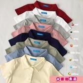 polo衫 春裝韓版2020新款設計感小眾嘻哈風撞色POLO領寬鬆短袖T恤女學生 源治良品