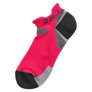 ASICS亞瑟士 運動襪子 毛巾底彈性踝襪(桃紅)。
