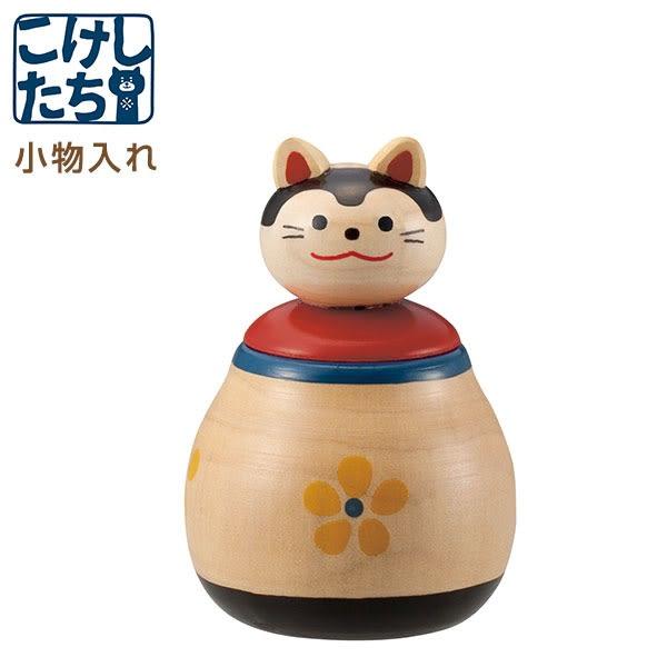 Hamee 日本 Decole 木芥子造型 飾品盒 置物盒 桌上收納 辦公小物 (犬張子) 586-924887