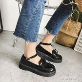 平底單鞋女夏秋鞋復古小皮鞋學院學生韓版百搭英倫風女鞋 可可鞋櫃