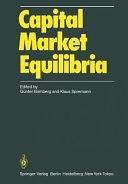 二手書博民逛書店 《Capital Market Equilibria》 R2Y ISBN:3540162488│Springer