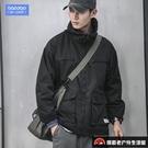 沖鋒衣日系連帽工裝外套男大碼【探索者戶外生活館】