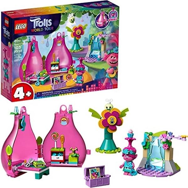 LEGO 樂高 Trolls World Tour Poppy s Pod 41251 Trolls Playhouse Building Kit with Poppy Troll Minifigure (103件)