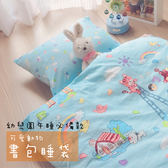 純棉兒童睡袋 / 書包睡袋(藍色)_可愛動物 幼兒園午睡必備款