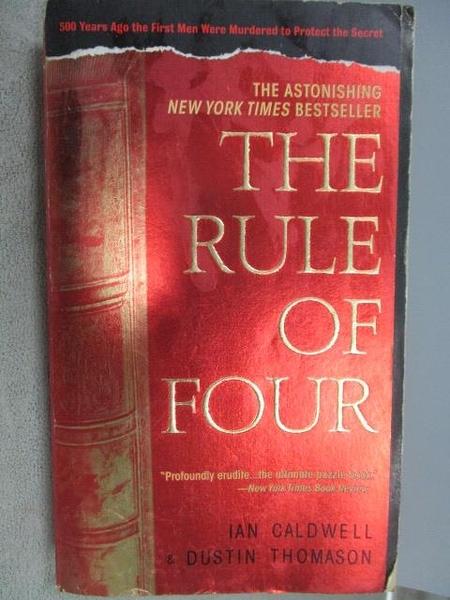 【書寶二手書T8/原文小說_CE5】The Rule of Four