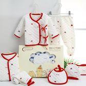 聖誕預熱  新生兒禮盒7件套新生嬰兒冬季保暖寶寶衣服超萌可愛0-3個月嬰幼兒 居享優品