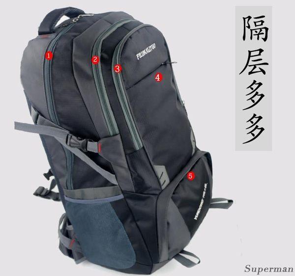 登山背包 戶外旅行登山包男女雙肩包旅游背包大號背包旅行包行李包【快速出貨八折下殺】