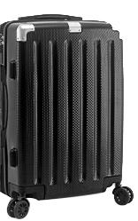 ~雪黛屋~TOUGH 24吋行李箱防撞角加大容量固定海密鎖硬殼360度旋轉耐摔耐磨損檢測通過SLG037