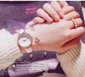 手錶櫻花粉少女心手錶女生中學生韓版簡約休閒大氣潮流 【品質保證】