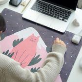 滑鼠墊 滑鼠墊超大辦公室電腦桌面加熱暖桌墊學生發熱 莎瓦迪卡