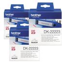 Brother DK-22223 白底黑字 (3入包裝)原廠連續標籤帶