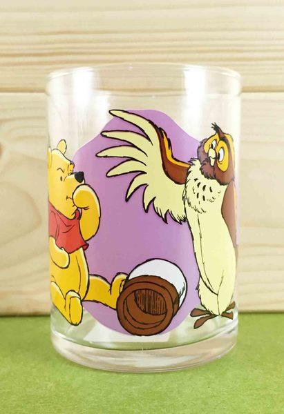 【震撼精品百貨】Winnie the Pooh 小熊維尼~玻璃杯-貓頭鷹
