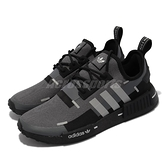 adidas 休閒鞋 NMD_R1 黑 灰 男鞋 Boost 襪套式 反光 運動鞋【ACS】 GZ7946