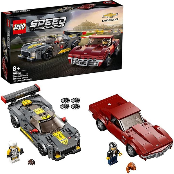 LEGO 樂高 Speed Champions 雪佛蘭 Corvette C8.R 賽車&1968 雪佛蘭 Corvette 76903