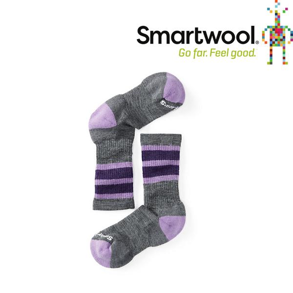【SmartWool 美國 兒童 健行中級避震條紋中長襪《中性灰》】SW001105/排汗襪/保暖襪/兒童襪★滿額送