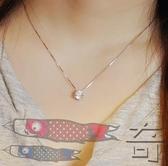 s925純銀單鑽項練女韓版時尚簡約氣質短款鎖骨練學生禮物