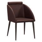 【森可家居】古巴克咖啡色皮餐椅 8ZX978-7 北歐風 出清折扣