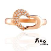 蘇菲亞SOPHIA - MELODY 美樂蒂 0.14克拉 玫瑰金鑽石戒指